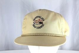 Montpelier Golf Course Tan Golf Baseball Cap Adjustable USA Made - $17.99