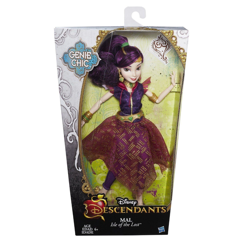 Image 1 of Disney Descendants Genie Chic Villain Mal Doll in Purple, Hasbro, 6+