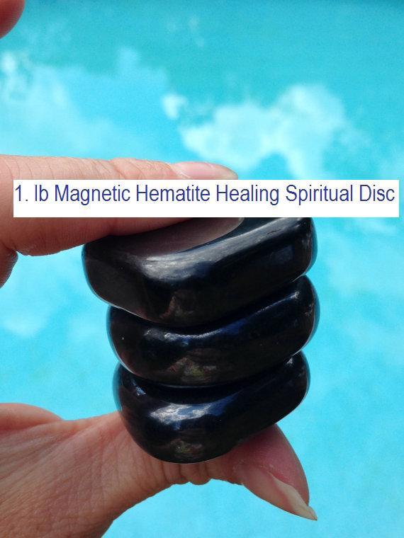 1 lb Large Hematite, Magnetic Hematite,Palm Stone,Healing stone, Crystal Rock,Ma