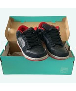 "Nike Dunk Low Prem Low Pro SB,""Black Cement, Sz 7, Blk/Wolf Gray/Red 201... - $217.77"