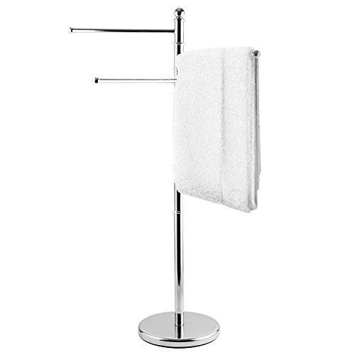 Towel Rack Stand Stainless Steel Bathroom Kitchen Poolside Home Portable Hanger