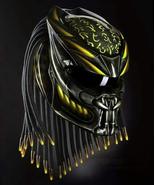 PREDATOR MOTORCYCLE HELMET YELLOW FIRE (DOT / ECE CERTIFIED) - $355.00