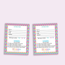 Lularoe Customer Contact card - Digital File - Honeycomb - $8.00
