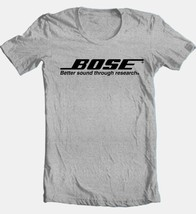 Bose T-shirt grey cotton blend graphic printed tee car audio speaker stereo tee image 2
