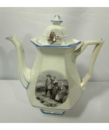 Vtg Sterling China Transferware Courtship of Miles Standish Coffee Pot/L... - $19.79