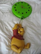 Extremely Rare! Walt Disney Winnie the Pooh Hanging on Balloon Fig Clock... - $337.29