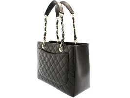 CHANEL Chain Tote Bag Caviar Leather Black CC A50995 Italy Authentic 549... - $2,913.10