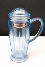Starbucks Barista 2001 Plastic Blue Rocket Cold Cup 16 oz. w Dome Lid & ... - $14.95