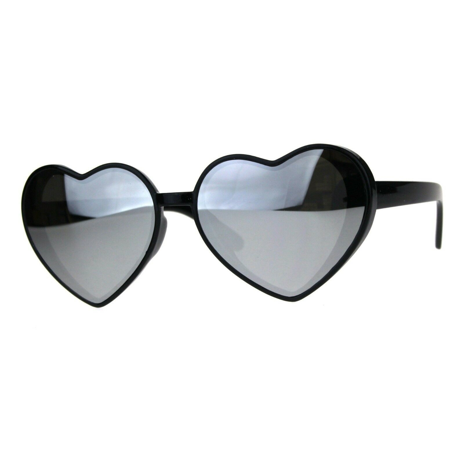 Oversized Heart Shape Sunglasses Womens Fashion Mirrored Lens Shades image 2