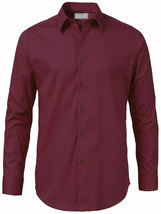 Men's Solid Long Sleeve Formal Button Up French Convertible Cuff Dress Shirt image 5