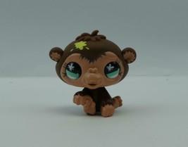 Littlest Pet Shop #663 Brown Baby Monkey Chimpanzee w/ Paint Spot & Blue Eyes - $6.52