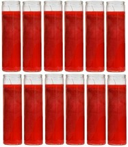 Unscented Red Candles Devotional Prayer Glass Container Candle, Sanctuar... - $77.02