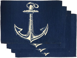 "Set of 4, 100% Cotton Nautical Design Tapestry Placemats Size : 13"" x 19"". - $11.49"