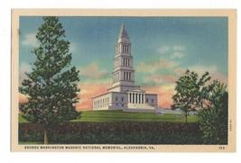 George Washington Masonic National Memorial Alexandria VA Vintage Postcard - $3.99