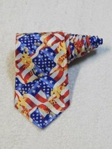 Olympic Games Collection By RM Sports Ralph Marlin Atlanta 1996 Red Necktie Tie - $19.79