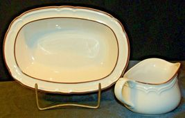 Cumberland Stoneware Mayblossom Gravy Bowl & Serving Pitcher AA-192035-E  Vintag image 5