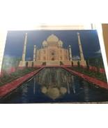 """Taj Mahal"" Mausoleum Acrylic Painting Signed Original 29 x 40 Art India... - $290.25"