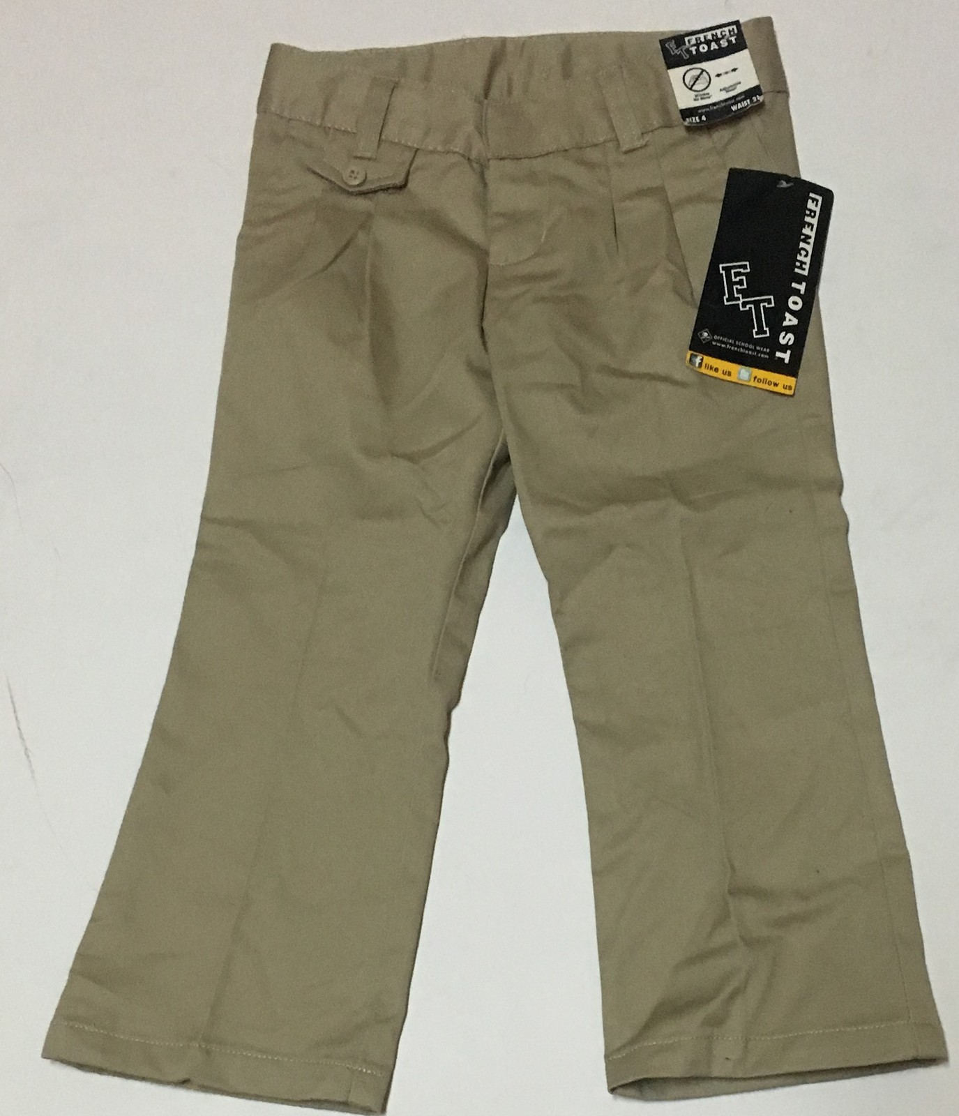 "French Toast Khaki Pants SZ 4 Toddler 21"" Waist NWT"