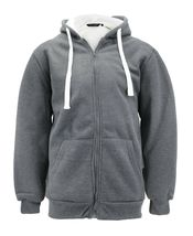 Men's Heavyweight Thermal Zip Up Hoodie Warm Sherpa Lined Sweater Jacket image 6