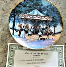 Collectible Carousel Plates w/ COA  The Franklin Mint  CAROUSEL MEMORIES - $19.80