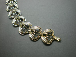 VTG Silver Tone Unsigned Leaf Design Chain Link Bracelet Costume Jewelry - $19.80