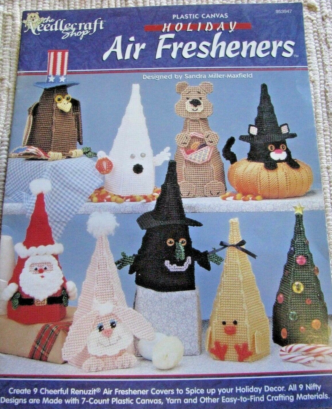 The Needlecraft shop plastic canvas Holiday Air Fresheners Booklet # 953947  - $9.89