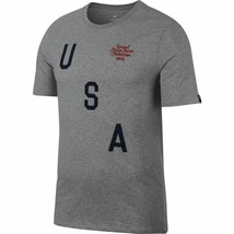 Nike USA National Soccer Team Squad Tee 849743-050 Grey Men's Size M/medium - $21.77