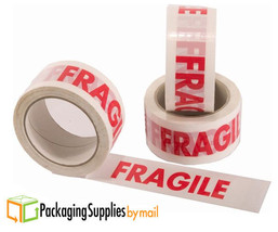 "3240 Rolls White RED FRAGILE HANDLE WITH CARE Box Shipping Tape 2"" 110 Yds - $4,328.13"