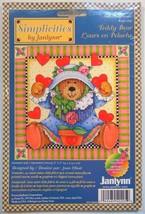 Janlynn Teddy Bears Counted Cross Stitch Kit Joan Elliott 2002 Flowers Heart GMA - $9.99