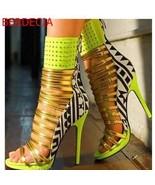 Geometric Side Stud Ankle  Heels - $99.99+