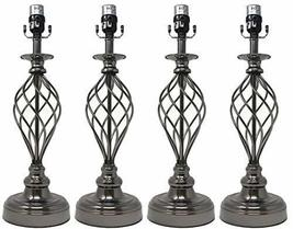 Urbanest Set of 4 Birdcage Lamp Bases, Black Nickel, 25.5-inch Tall - $128.69