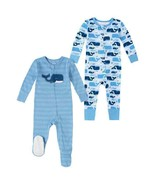 NEW Absorba 2-pack Cotton Sleeper, Blue Whale FREE SHIPPING - $23.49