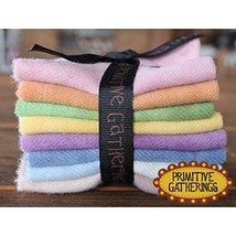 Primitive Gatherings - Pastel Hand Dyed Wool PRI-6015 - Charm Pack - $21.96