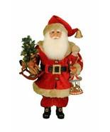 Karen Didion Santa Claus lighted carousel dreams SanYa CC16-181   17 inc... - $88.00