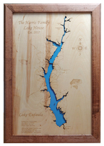 Wood Laser Cut Map of Lake Eufaula in Georgia and Alabama Topographical Engraved - $124.99+