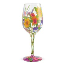 """Wine in the Garden """"Designs by Lolita"""" Wine Glass 15 o.z. 9"""" High  Gift Boxed"""