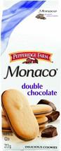 3 Boxes Pepperidge Farm Monaco Double Chocolate Cookies 213g Each- Canada FRESH - $12.82