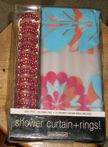 Interdesign Shower Curtain + Ring Set Flower 100% PEVA 70x71 - $20.99
