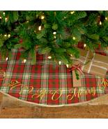 Ho Ho Holiday tree skirt red green   - $76.00
