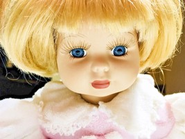 Porcelain Doll by Geppeddo Collector Series Blonde Hair Blue Eyes - $19.79