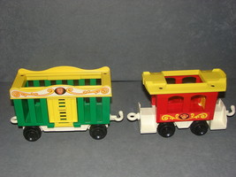 Fisher Price Little People 991: Circus Train 2 Cars Cage Car + Caboose - $12.00