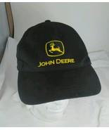 John Deere vintage snapback adjustable truckers cap black - $19.25