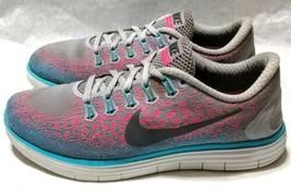 Nike Free RN Distance Womens Shoes US Size 8.5 B Wolf Grey Pink Blast GO... - $29.69