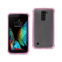 REIKO LG K10 MIRROR EFFECT CASE WITH AIR CUSHION PROTECTION IN HOT PINK - $6.90