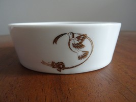 Vintage Lefton China Hand Painted Bird Dove Soap Dish Trinket Bowl #0410... - $11.75