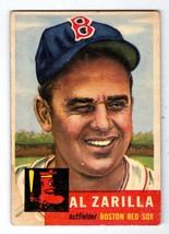 1953 Topps #181 Al Zarilla Boston Red Sox EX condition $25 BV - $7.16
