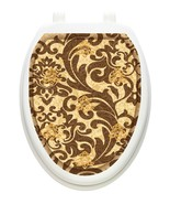 Toilet Tattoos Toilet Lid Cover TUSCANY FILIGREE Vinyl Cover Removable R... - $16.95