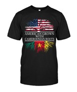 Cameroonian Roots American Grown Flag of Cameroon T Shirt - $17.99+
