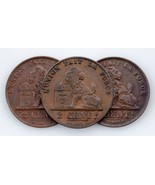 1863-1909 Belgique 2 Centime Pièce de Monnaie plein de 3 ( Extra Fin État) - $59.40