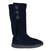 UGG Boots black knit Women's size 6 - $49.50